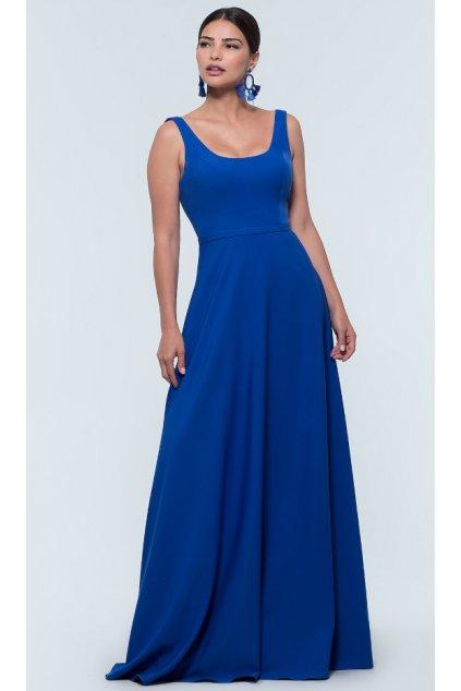 Dlouhé plesové šaty Karin královská modrá