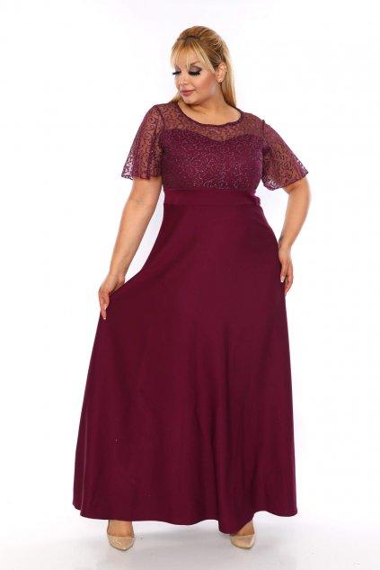 Společenské šaty Federica vínové