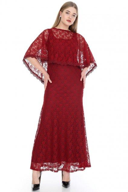 Společenské šaty Loren vínové 4