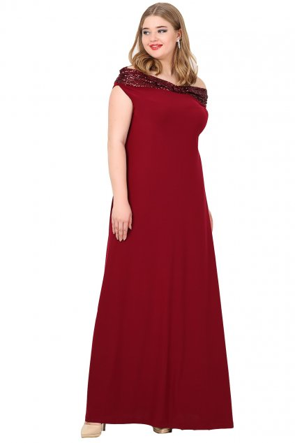 Společenské šaty Claris vínové 1