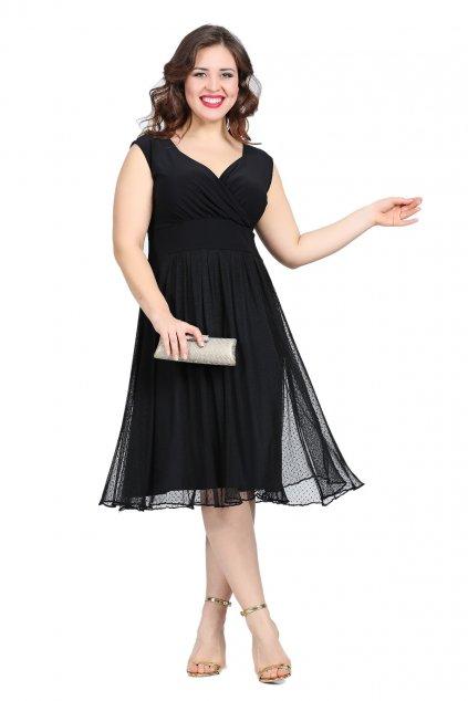 Společenské šaty Francesca černé