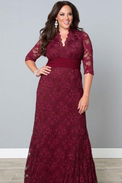 Společenské šaty Alessia vínové