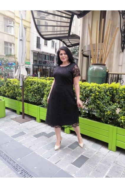 Krajkové šaty Marta černé 2