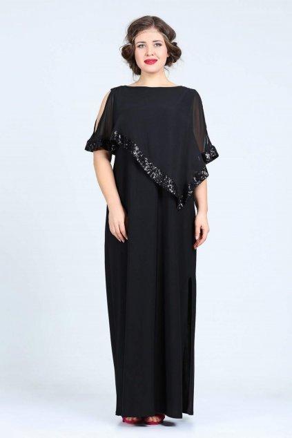 Dlouhé společenské šaty Loren černé 1