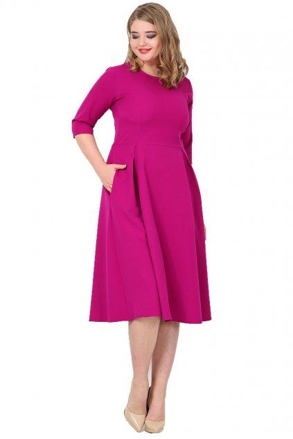 Dámské šaty Paola královská fuchsiová 1