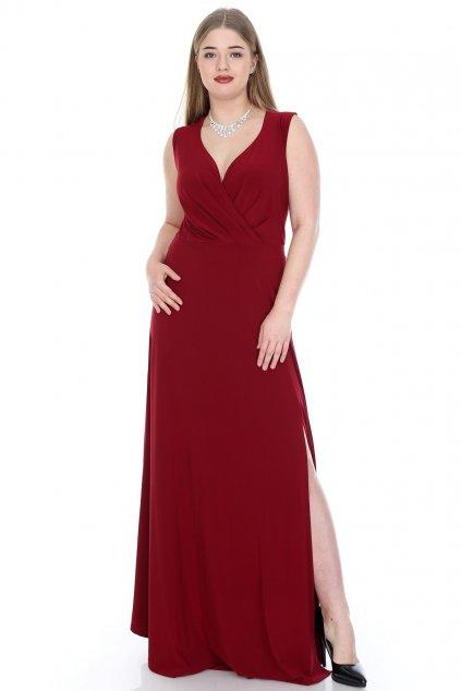 Společenské šaty Berenica vínové