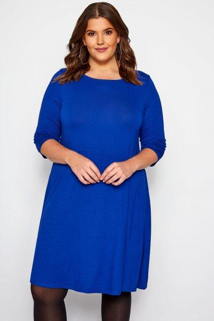 Jednoduché šaty Timi Bellazu královská modrá 1