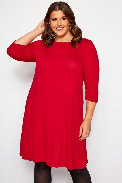 Jednoduché šaty Timi Bellazu červená 1