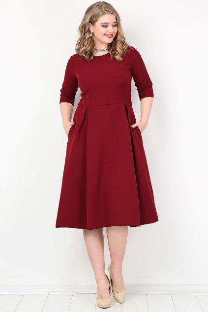 Dámské šaty Paola Bellazu královská vínová 4
