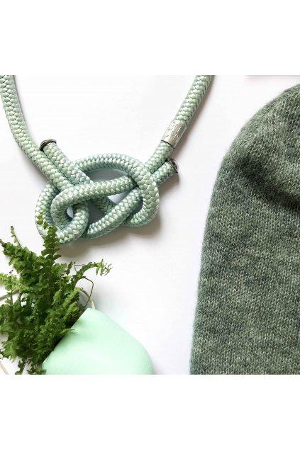 Tyrkysový proplétaný náhrdelník 1