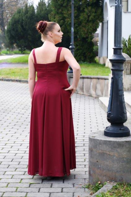 Dlouhé vínové šaty Timeless 2