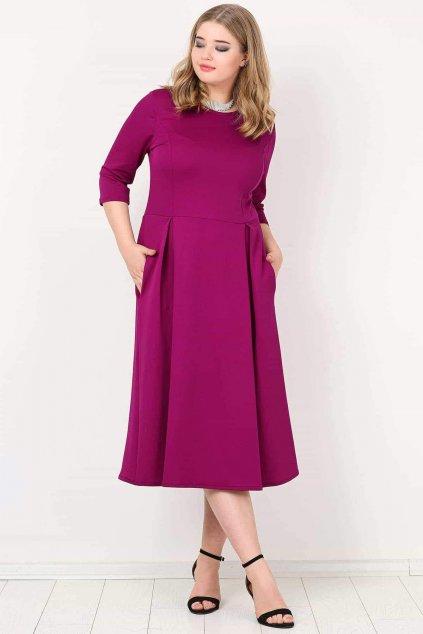Dámské šaty Paola Bellazu královská vínová 1