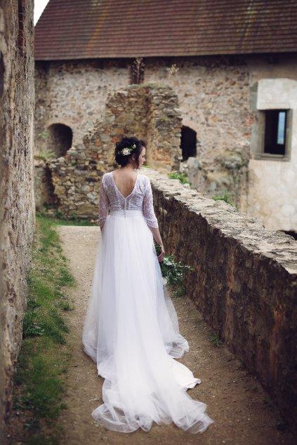 Dlouhá svatební tylová sukně Susan