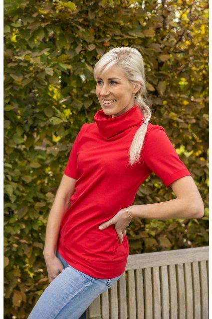 Rolákové tričko červené