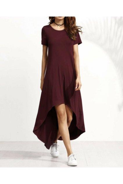 Asymetrické šaty Marve v různých barvách 1