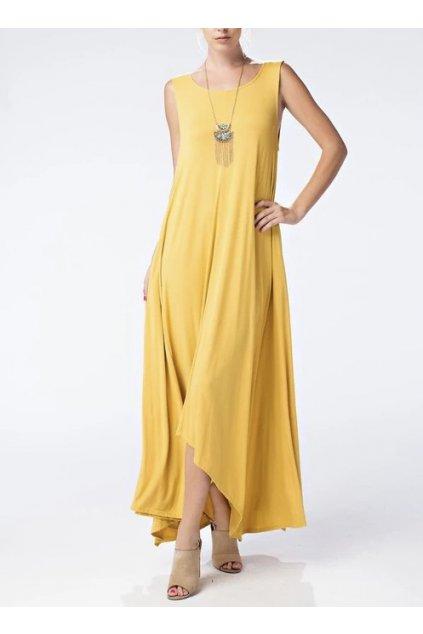Asymetrické letní šaty Karoline v různých barvách 1