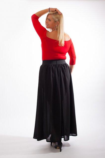 Dámská halenka Amanda Bellazu s hlubokým výstřihem červená