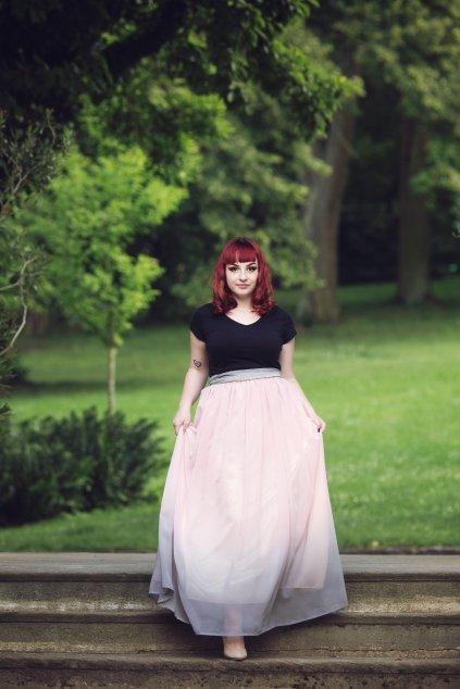 Dlouhá šifonová sukně Love ombre 9