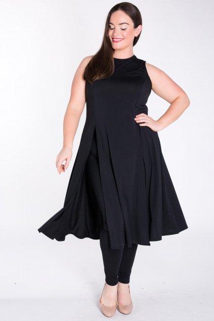 Dlouhé šaty Kiki s legínami černé 3