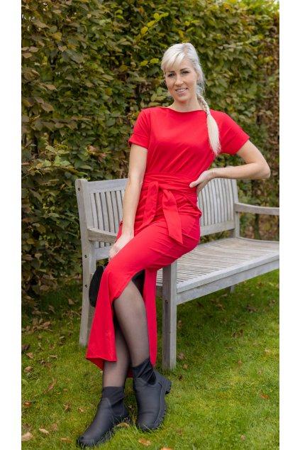 Zavinovací šaty Wrap Dress s krátkým rukávem 1