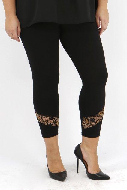 Legíny Matlock se zlatou krajkovou nohavičkou černé 2