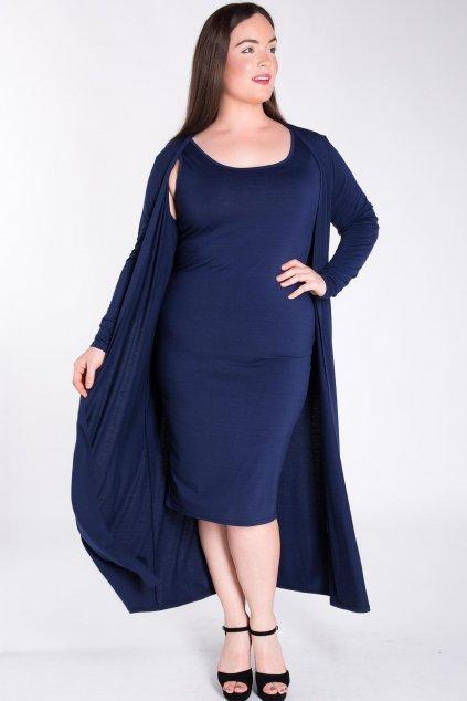 Dlouhé šaty Desert Rain s plédem tmavě modré 1