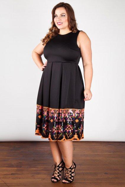 Okouzlující šaty Aquainted s barevným lemem černé 2