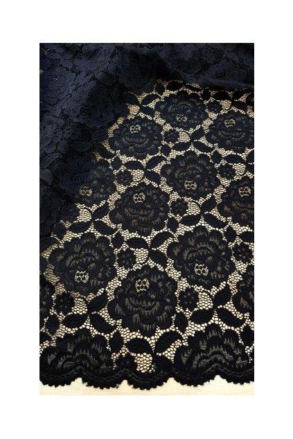Krajkové šaty Fancy s odhaleným dekoltem černé 5