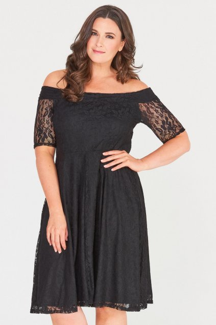 Krajkové šaty Cos s rukávkem černé 3