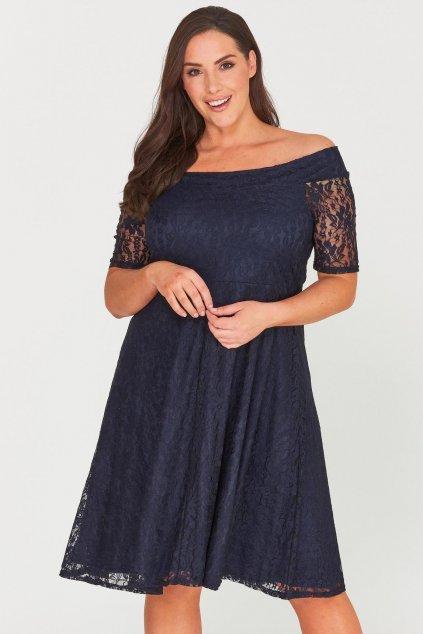 Krajkové šaty Cos s rukávkem tmavě modré 1