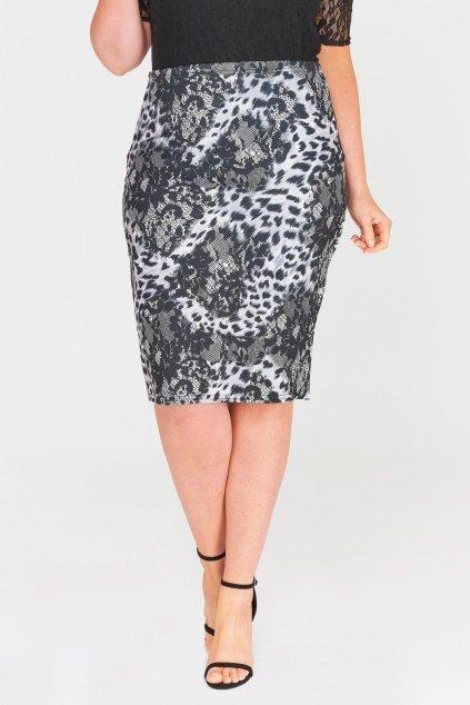 Klasická sukně Mac s tygrovaným vzorem 1