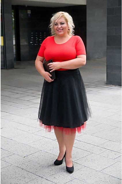 Spodnička k tylové sukni Abagail Bellazu červená 1
