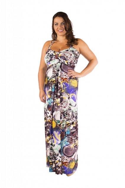Dlouhé šaty Ashanti s barevným vzorem 1
