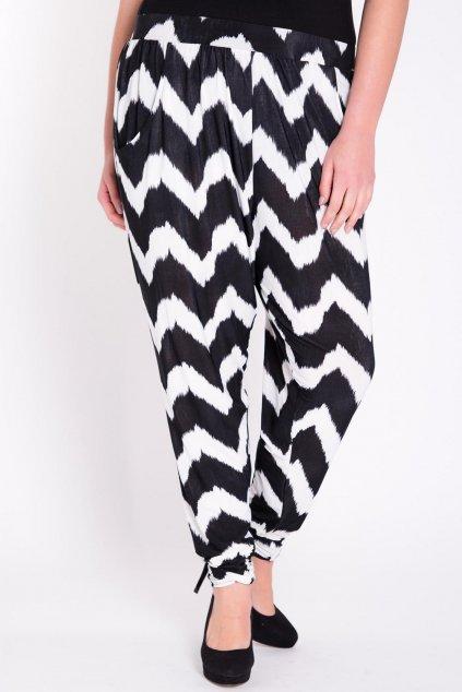 Dámské kalhoty Hones černobílé 1