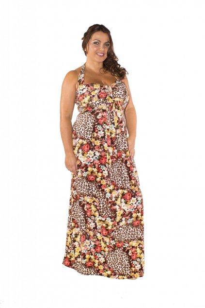 Dlouhé šaty Ashanti s leopardím vzorem 1