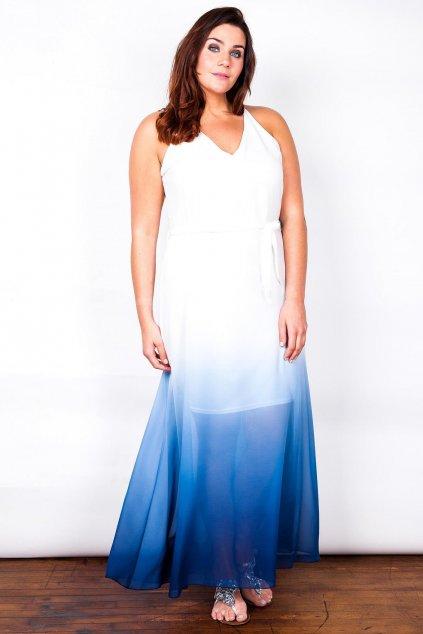 Dlouhé šaty Taboo s průsvitnou modrou sukní 1.jpg
