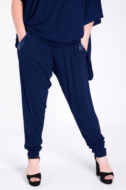 Dámské kalhoty Claimed tmavě modré 1