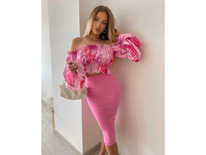 """Exkluzivní kolekce - sukně """"BASIC"""" - barbie pink"""