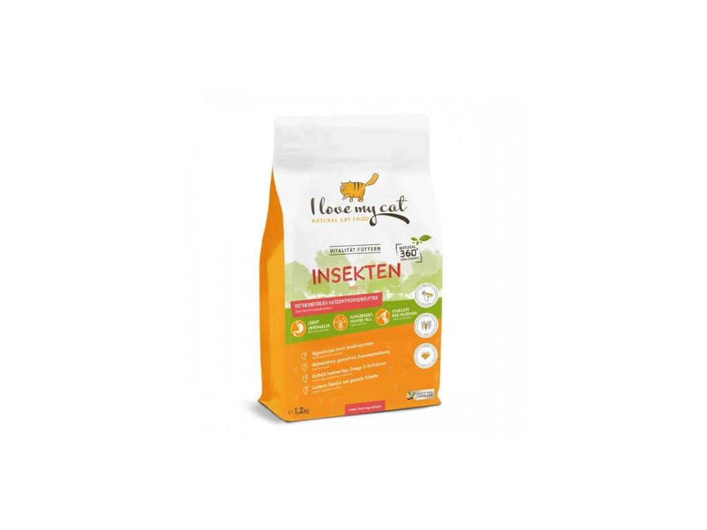 1,2Kg Insekten - granule pro kočky s hmyzím proteinem