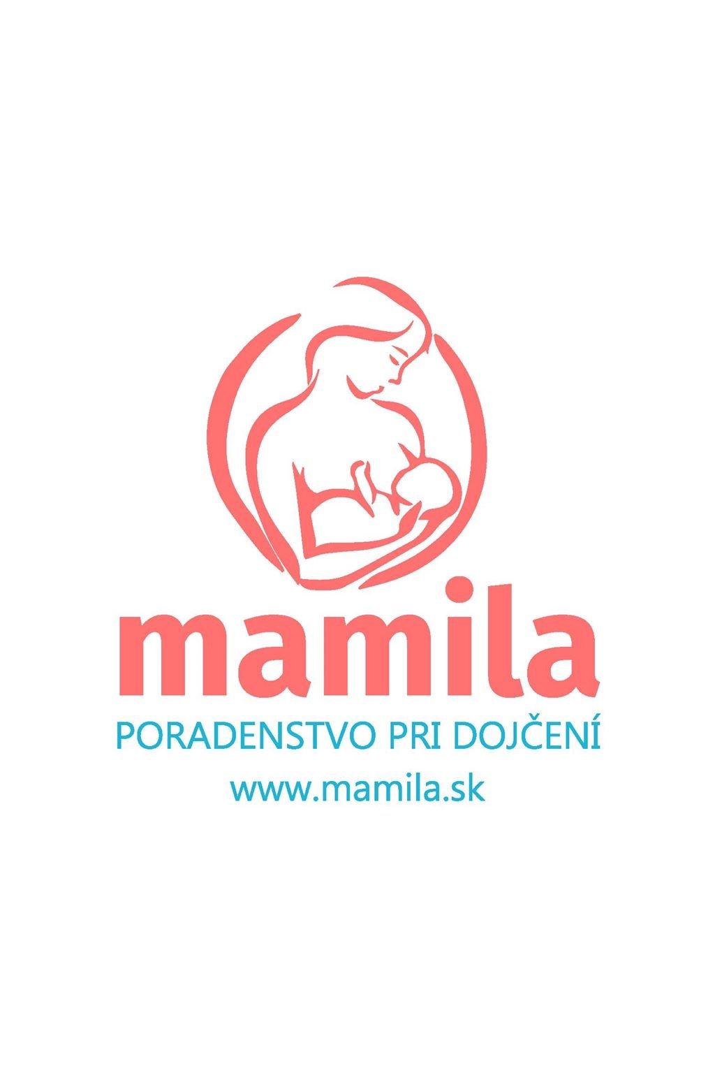 logo mamila růžovomodré