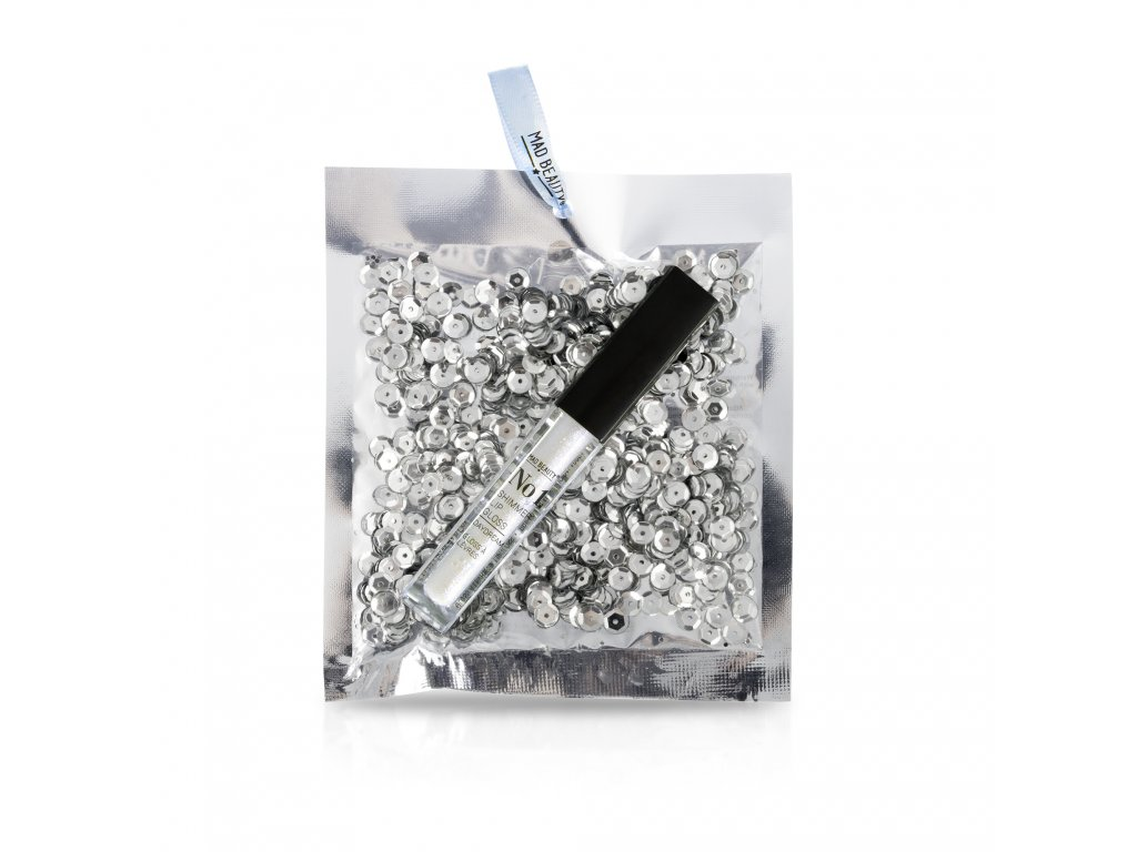 Silver Sequins Lip Gloss