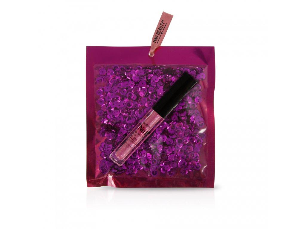 Pink Sequins Lip Gloss