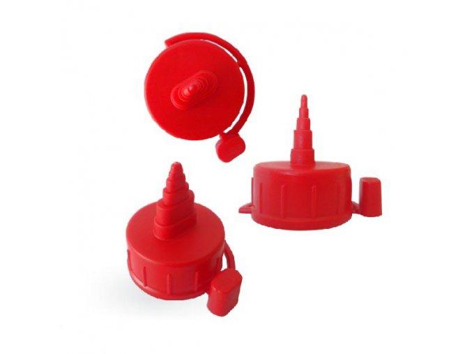541 uzaver s aplikatorem k lahvi 250ml 500ml a 1l cerveny