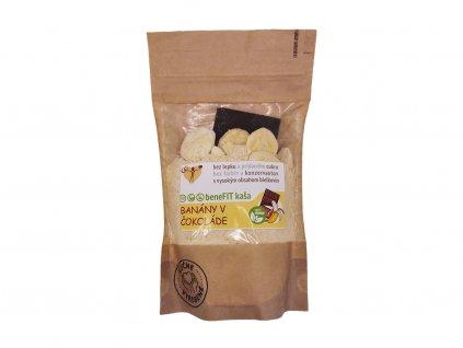 Benefit kaša - Banány v čokoláde (vegan)