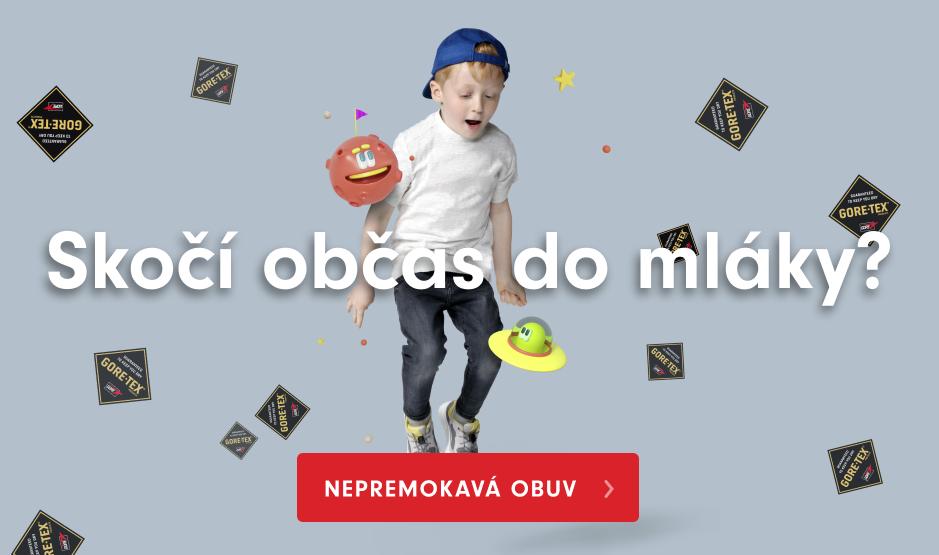 Nepremokavá detská obuv s membránu Gore-tex