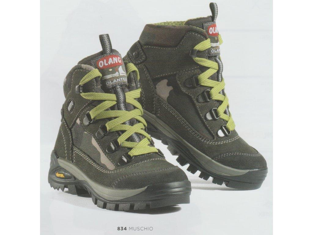 d8ecaaa0f5ed0 Treková pevná obuv vysoká členková, zvršok je vyhotovený z brúsenej kože,  podšívky textilné, stielky tvarované textilné. Podrážka treková.