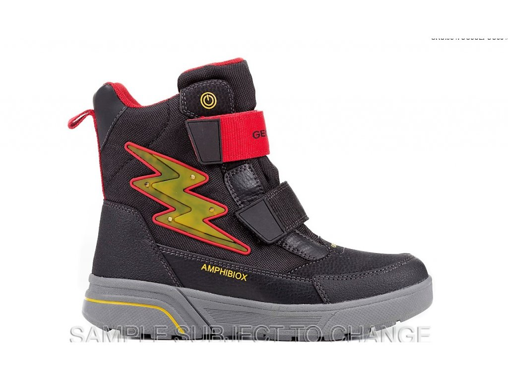Detská chlapčenská blikajúca zimná nepremokavá obuv Geox J847UC OCEFU C0048  - CENA JE PO ZĽAVE 20% d8361779478