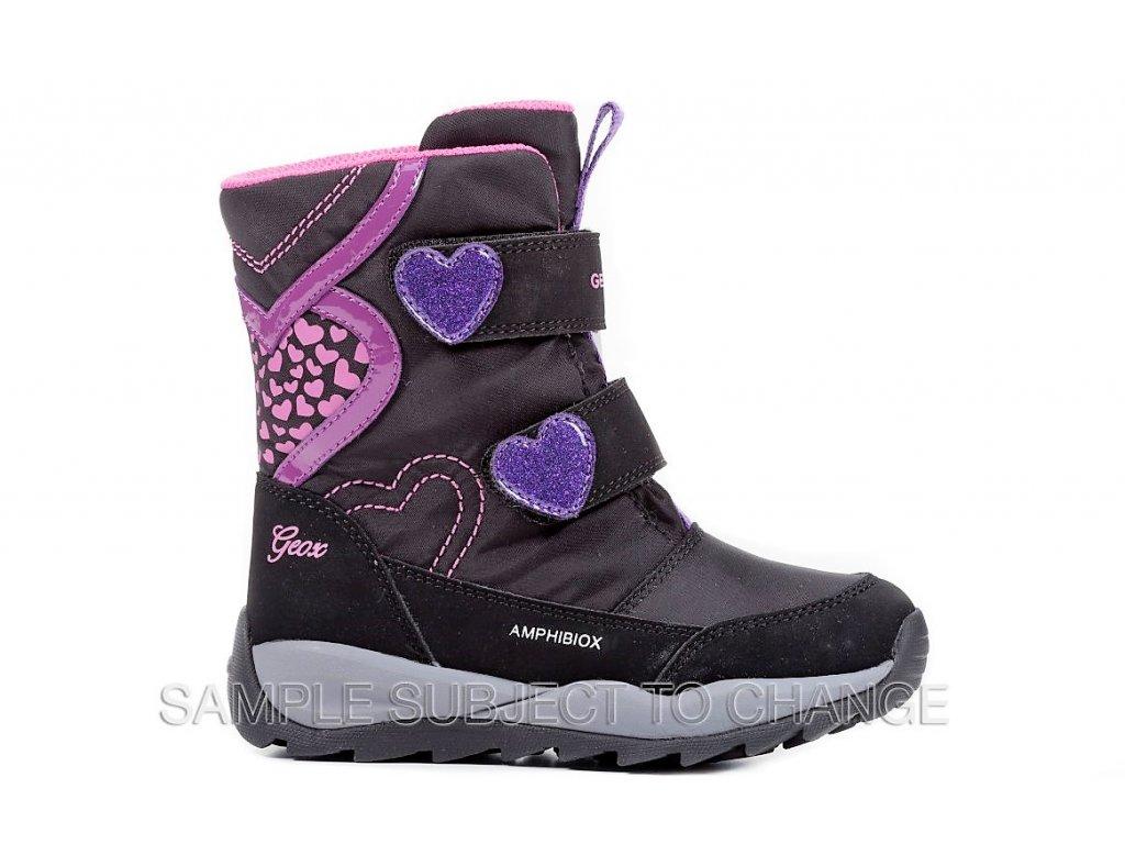 Detská dievčenská zimná nepremokavá obuv Geox J842BE OFU50 C0922 ... d700cb855df