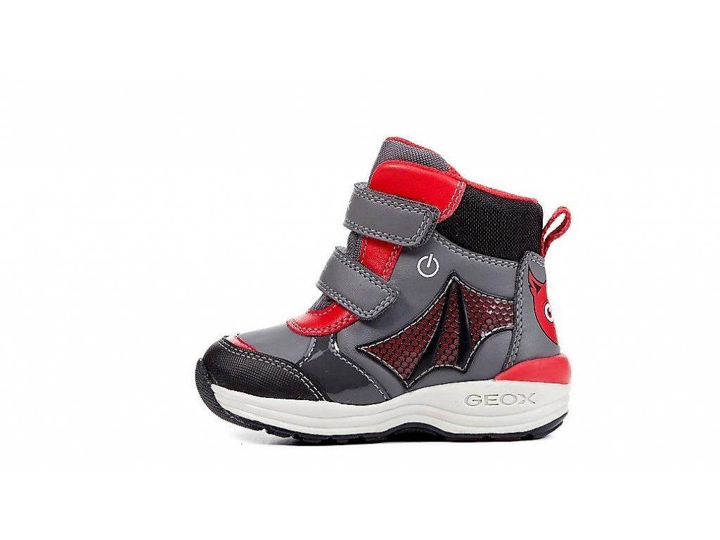Detská chlapčenská blikajúca zimná nepremokavá obuv Geox B841GC ... 1b407bbfa2f