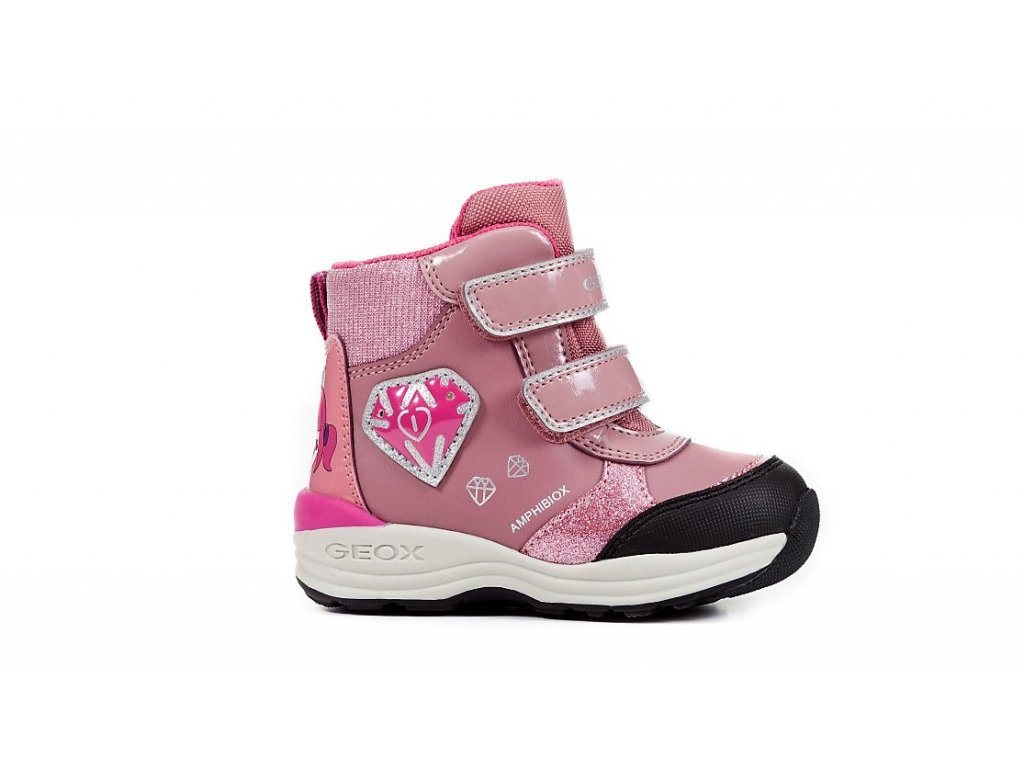 Detská dievčenská blikajúca zimná nepremokavá obuv Geox B841FC 050HI ... 1ad7d8f7ef6